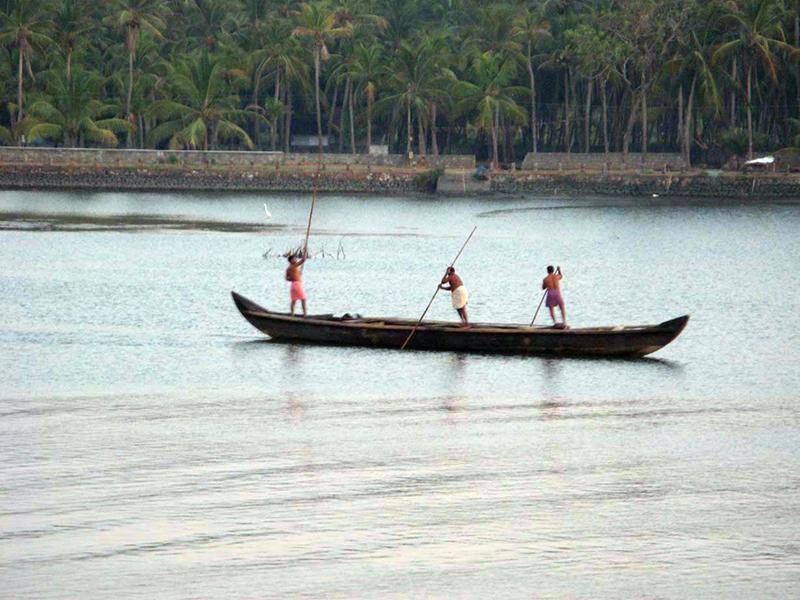 Fishermen in backwaters Kerala